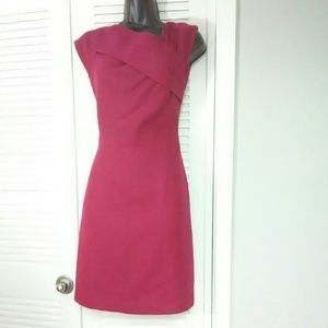 Esley Small wool blend pink fuscia dress